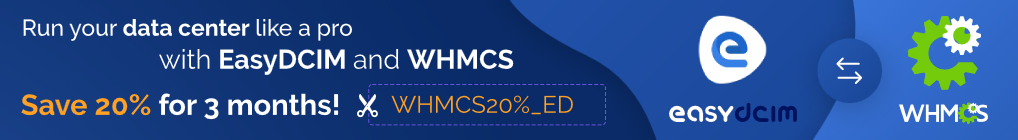 Get an exclusive 20% discount for 3 months on the EasyDCIM!