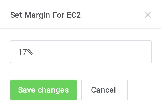 Pricing Margin For EC2 - AWS Billing For WHMCS by ModulesGarden