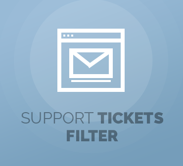 ModulesGarden Support Tickets Filter For WHMCS