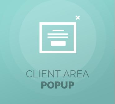 Client Area Popup