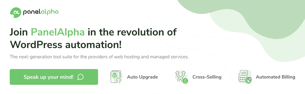 PanelAlpha - Greet the new face of WordPress automation!