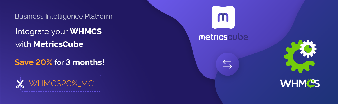 Complete WHMCS Business Analysis with MetricsCube at a 20% Discount - ModulesGarden