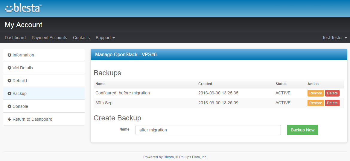 OpenStack VPS For Blesta: Screen 4