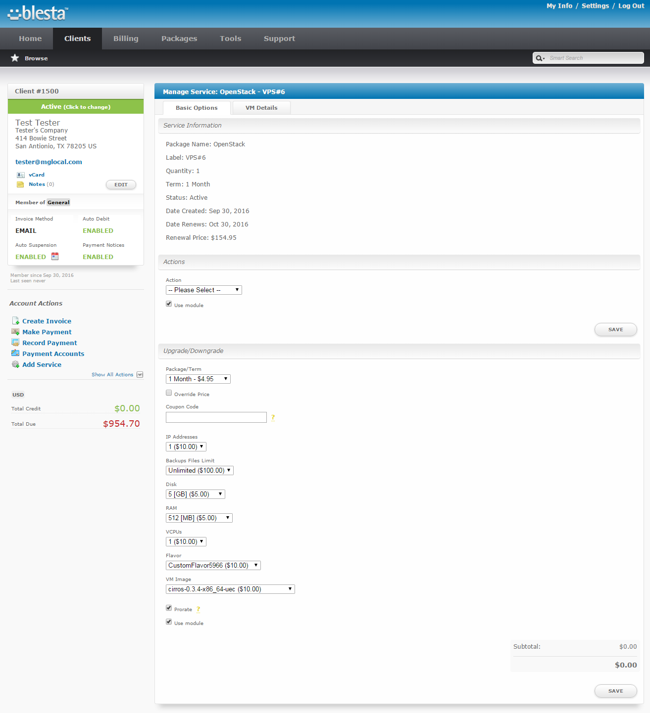 OpenStack VPS For Blesta: Screen 8