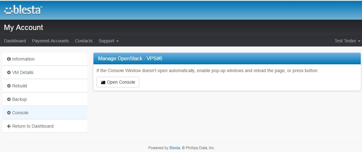 OpenStack VPS For Blesta: Screen 5