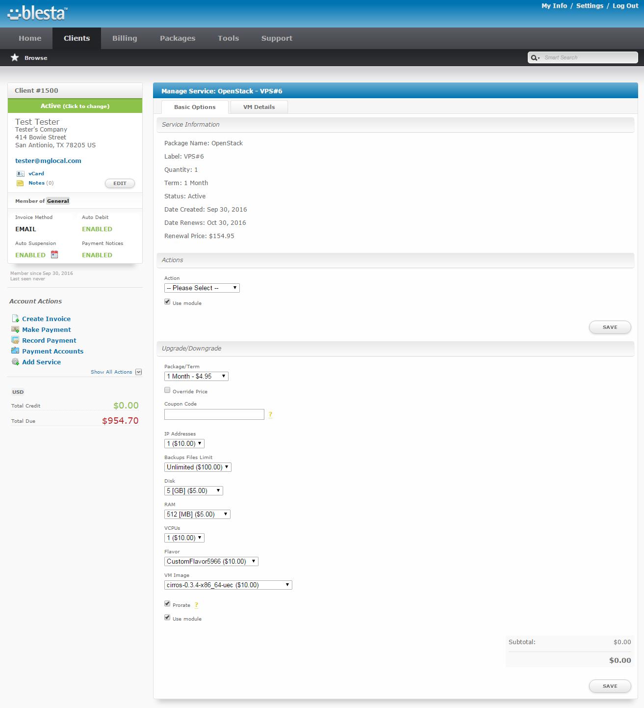 OpenStack VPS For Blesta: Screen 8