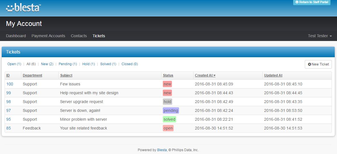 Zendesk For Blesta: Screen 3