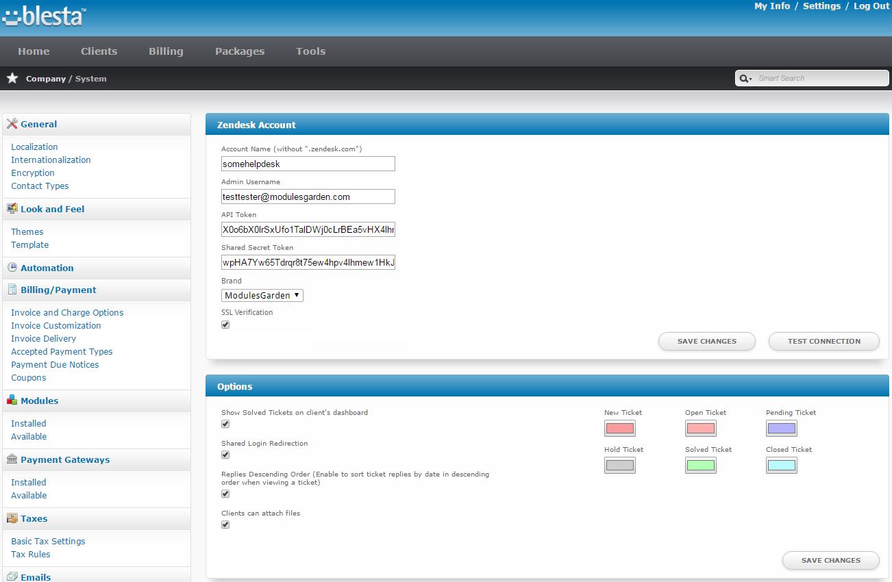 Zendesk For Blesta: Screen 6
