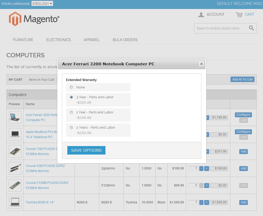 Bulk Orders Center For Magento: Screen 2