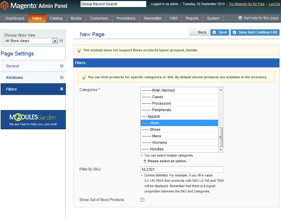 Bulk Orders Center For Magento: Screen 5