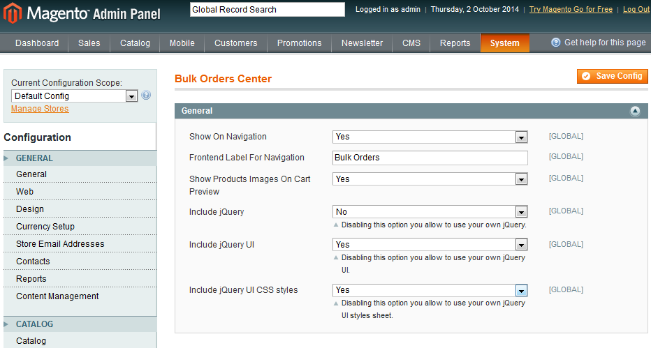 Bulk Orders Center For Magento: Screen 6