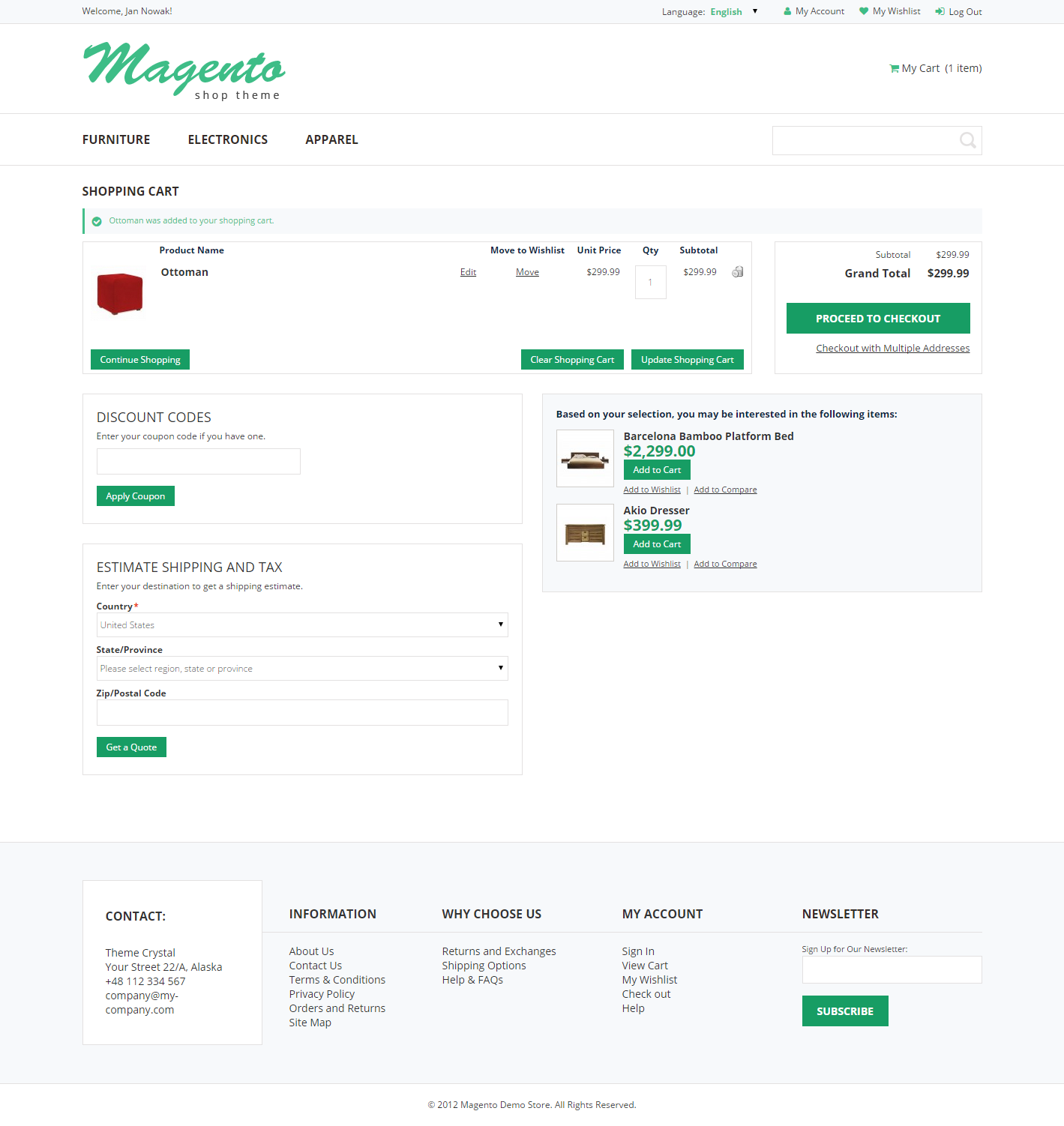 Crystal - Theme For Magento: Screen 5