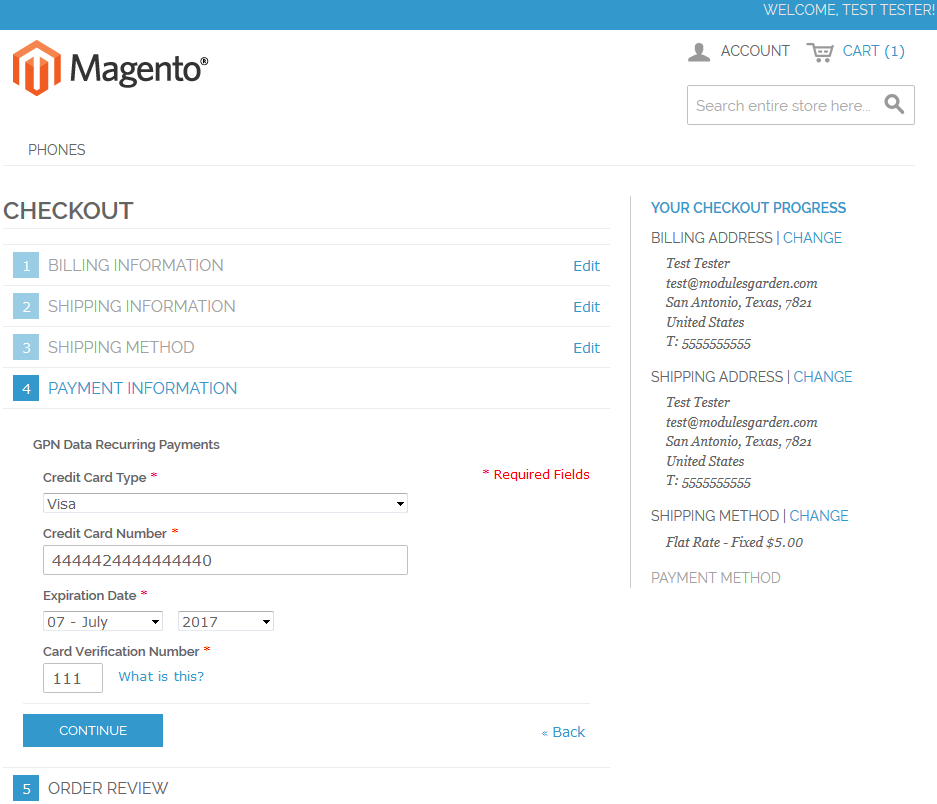 GPN DATA For Magento: Screen 6