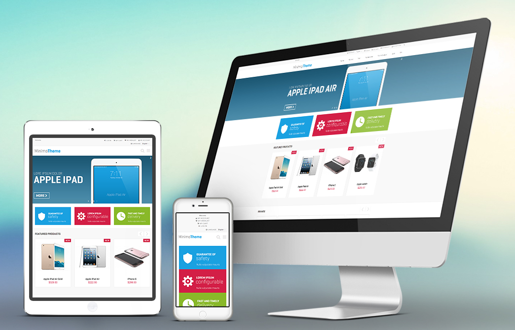 Minimo - Theme For Magento: Screen 2