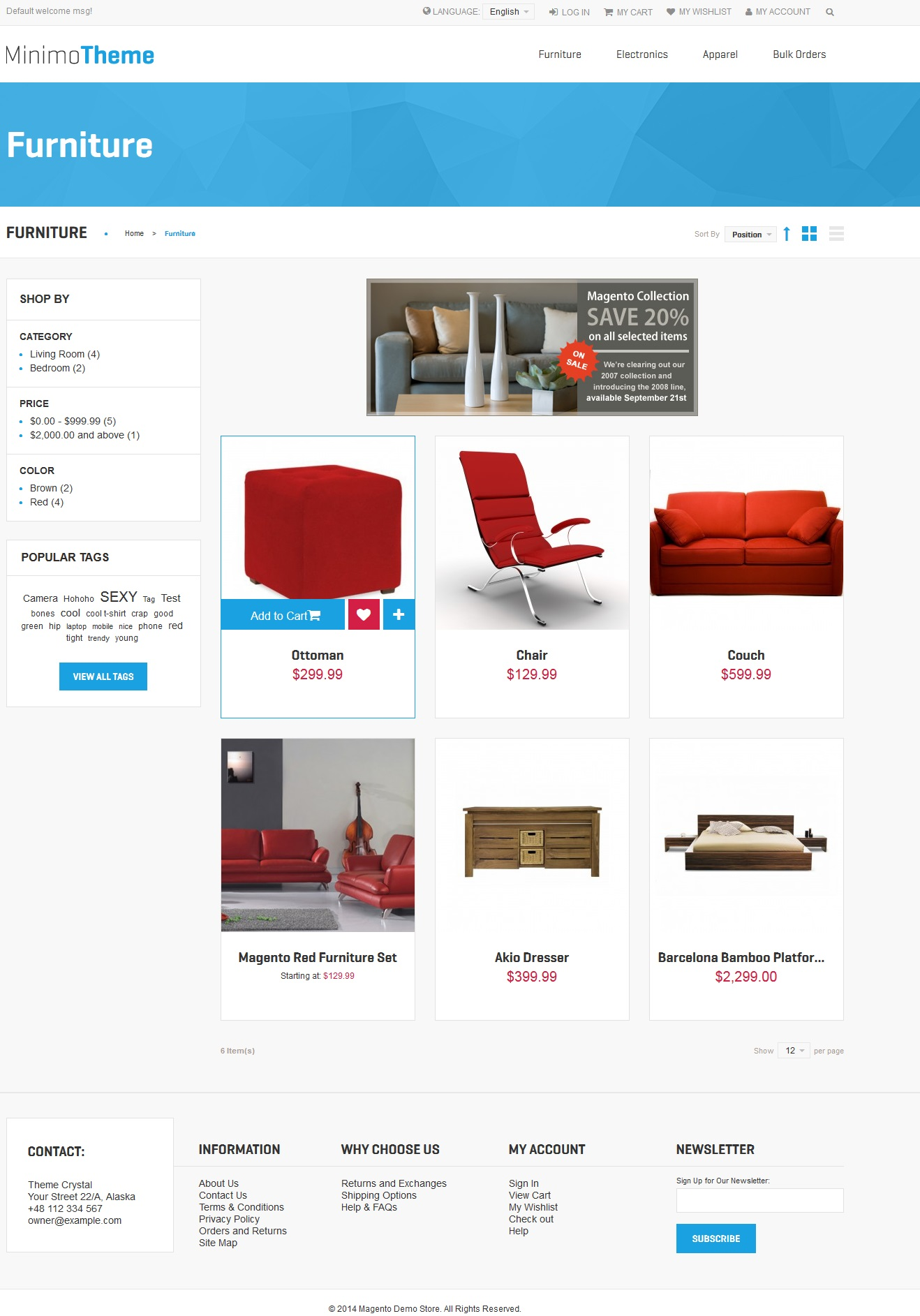 Minimo - Theme For Magento: Screen 3