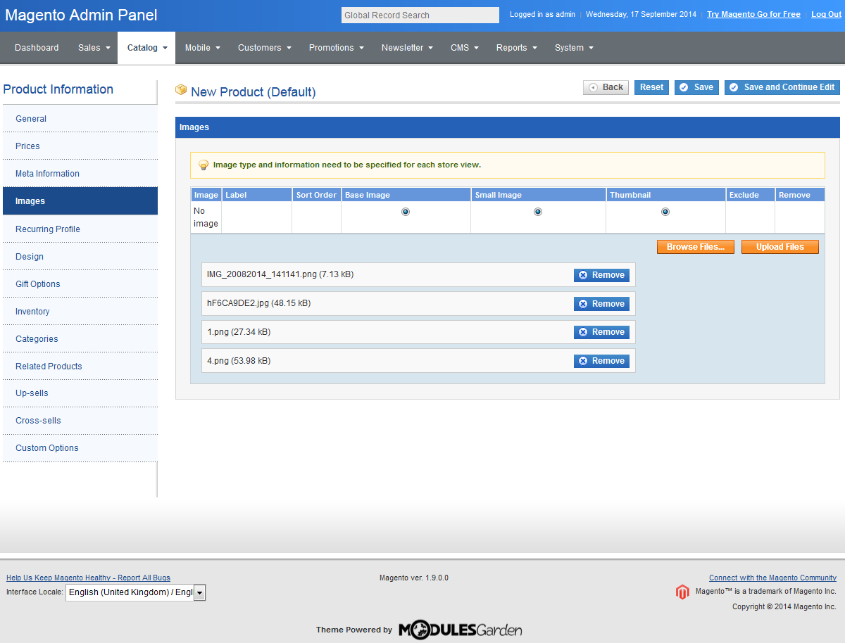 Sapphire - Admin Theme For Magento: Screen 3