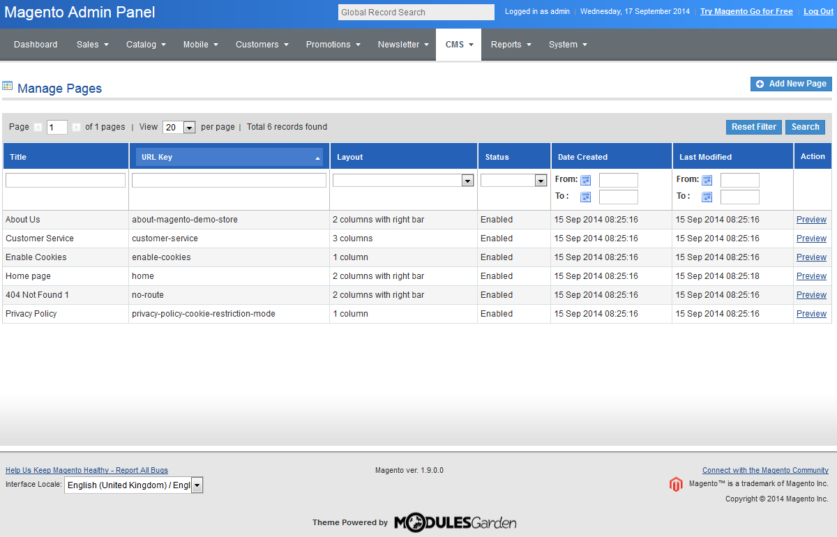 Sapphire - Admin Theme For Magento: Screen 4