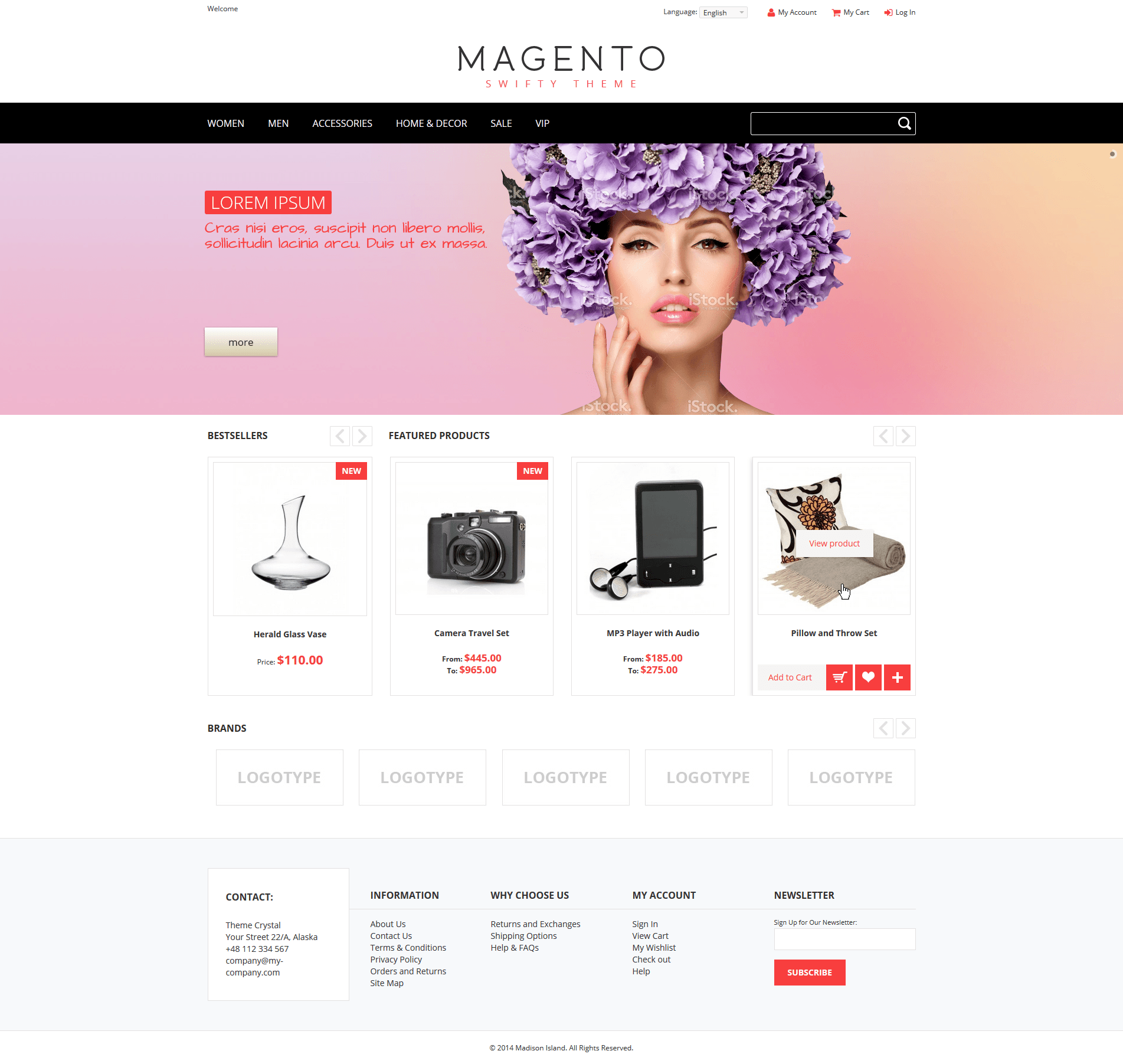 Swifty - Theme For Magento: Screen 1