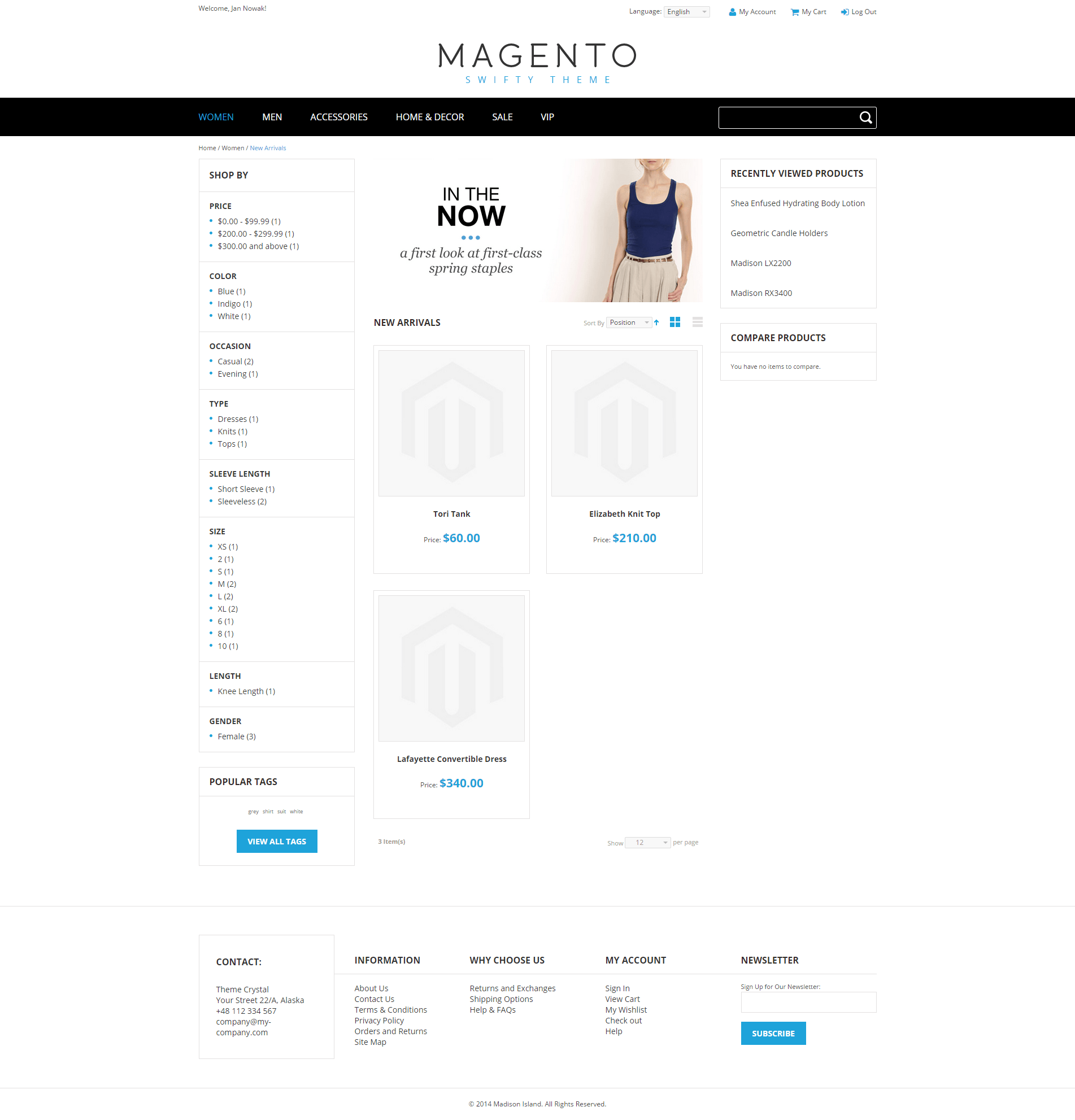 Swifty - Theme For Magento: Screen 3