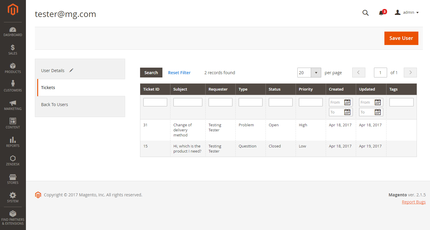 Zendesk Extended For Magento 2: Screen 9