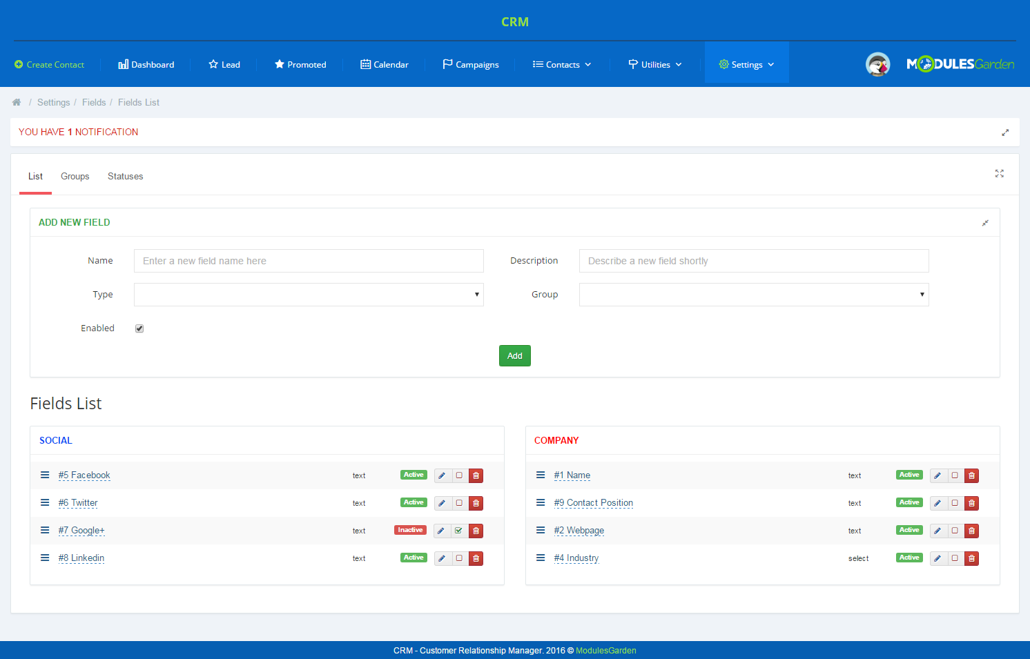 CRM For PrestaShop: Screen 13