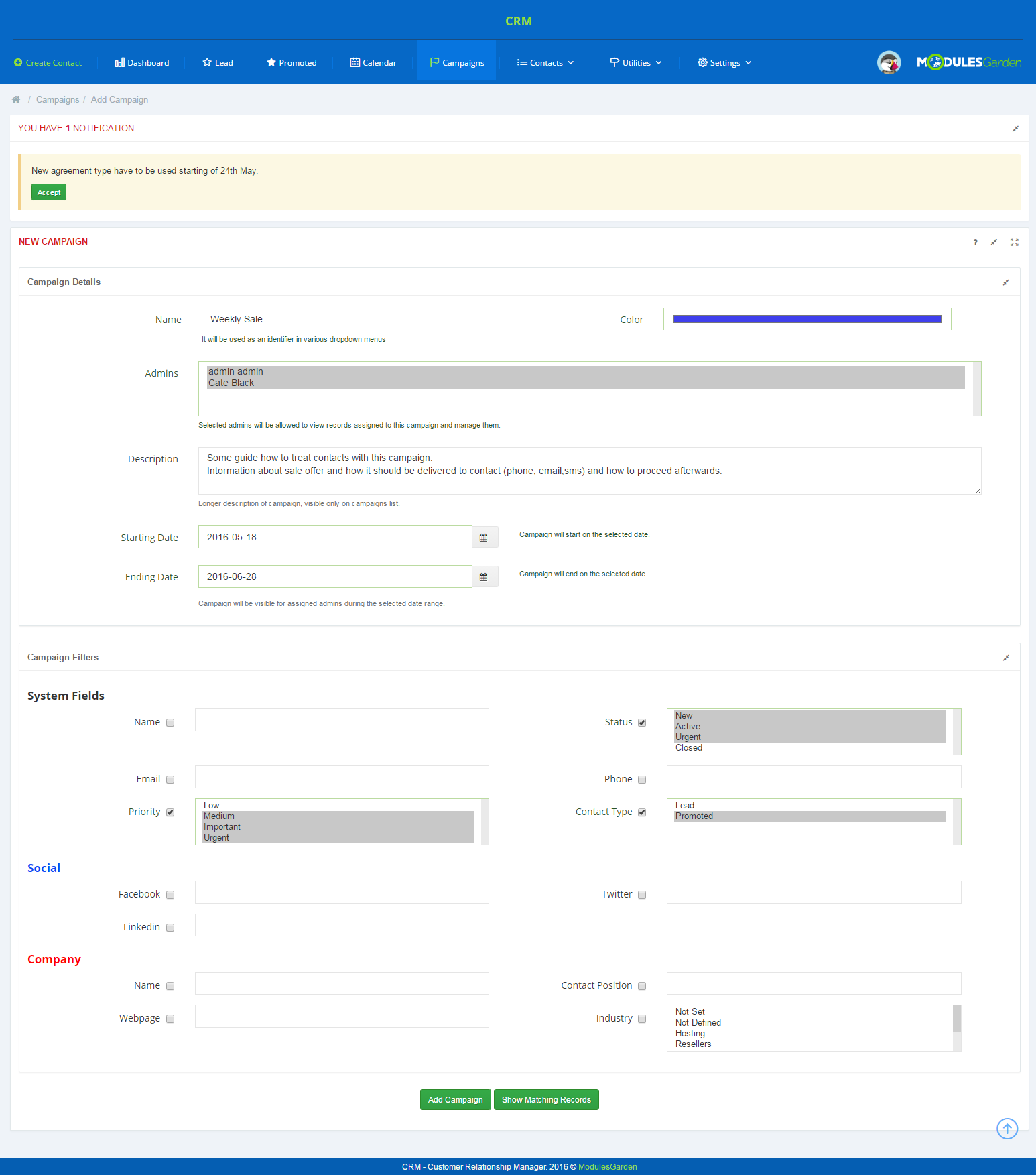 CRM For PrestaShop: Screen 7