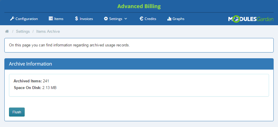 Advanced Billing For WHMCS: Screen 10