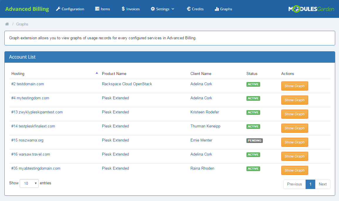 Advanced Billing For WHMCS: Screen 15