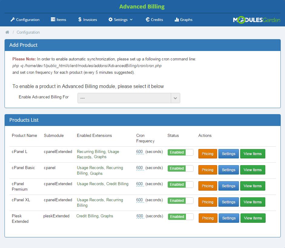 Advanced Billing For WHMCS: Screen 4