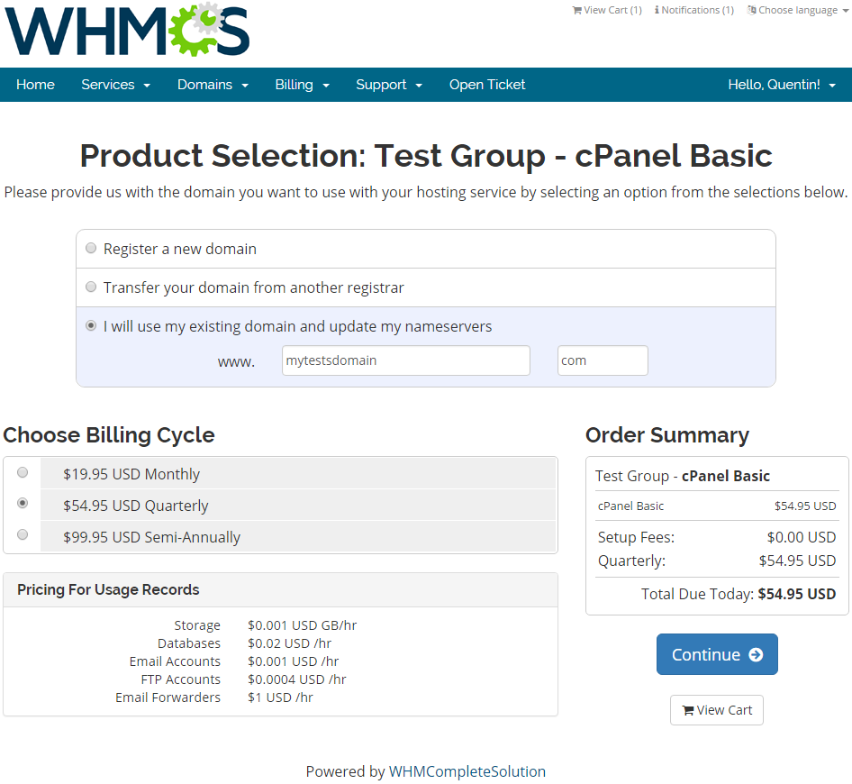 Advanced Billing For WHMCS: Screen 3