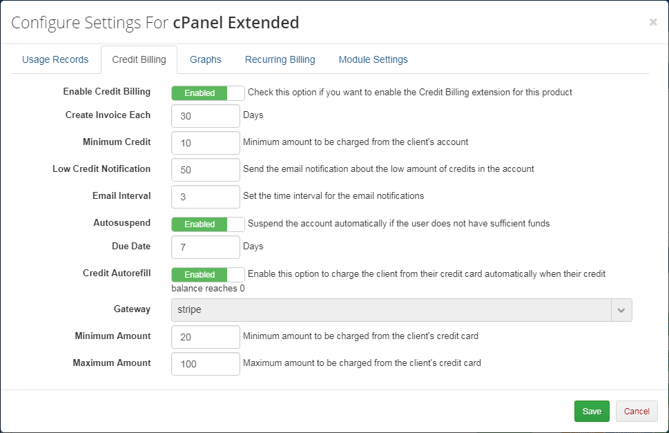 Advanced Billing For WHMCS: Screen 7