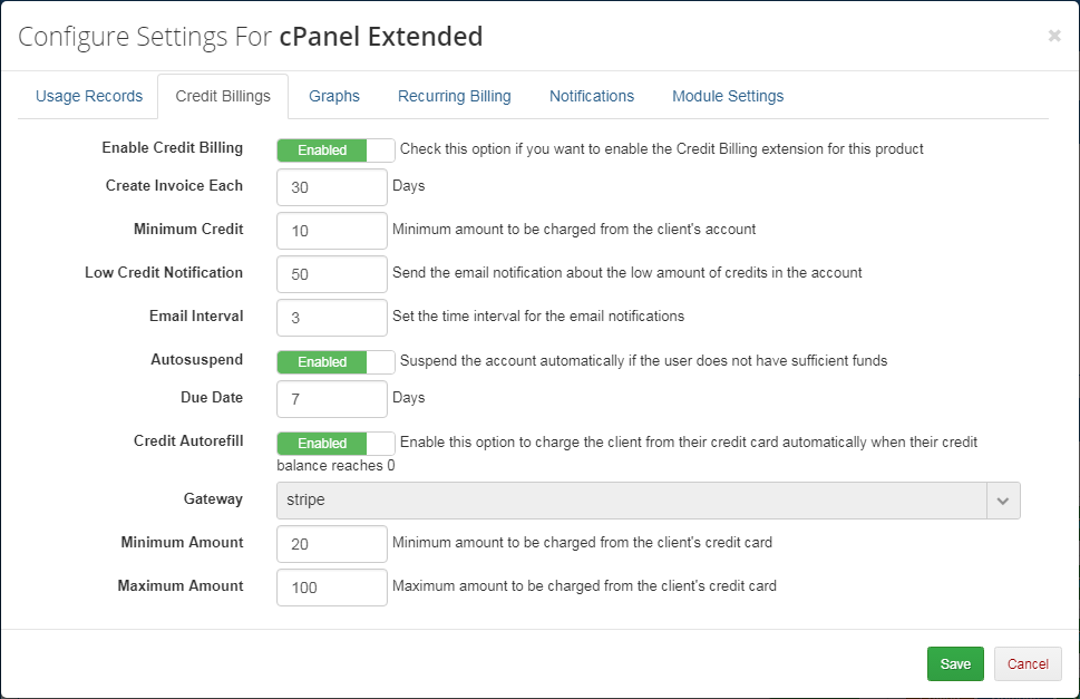 Advanced Billing For WHMCS: Screen 10