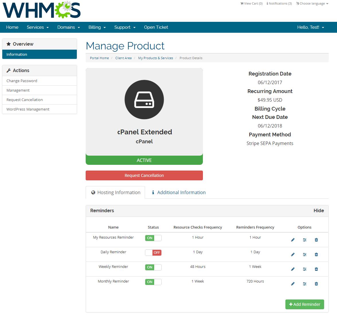Advanced Billing For WHMCS: Screen 3