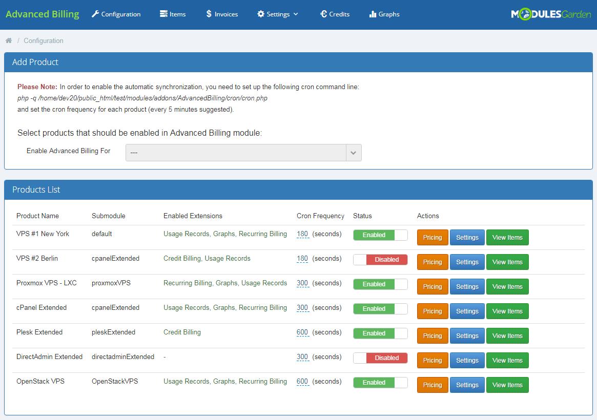 Advanced Billing For WHMCS: Screen 7