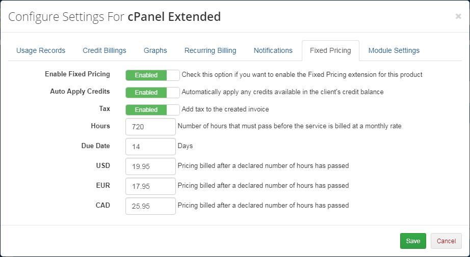 Advanced Billing For WHMCS: Module Screenshot 13