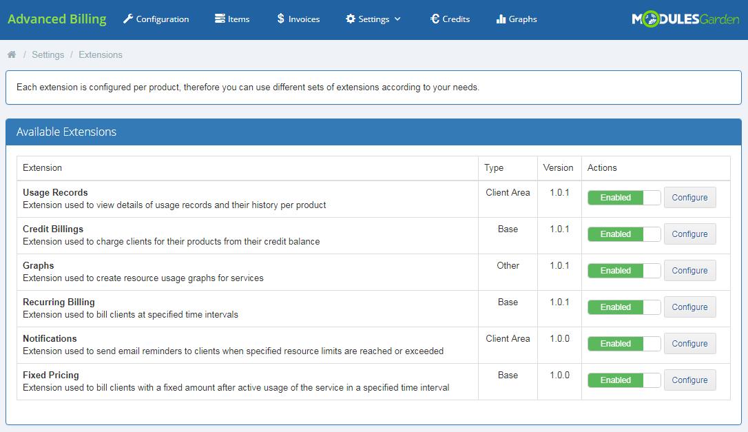 Advanced Billing For WHMCS: Module Screenshot 14