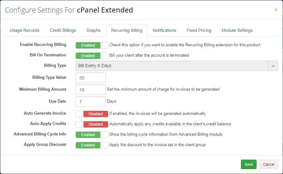 Advanced Billing For WHMCS: Module Screenshot 12