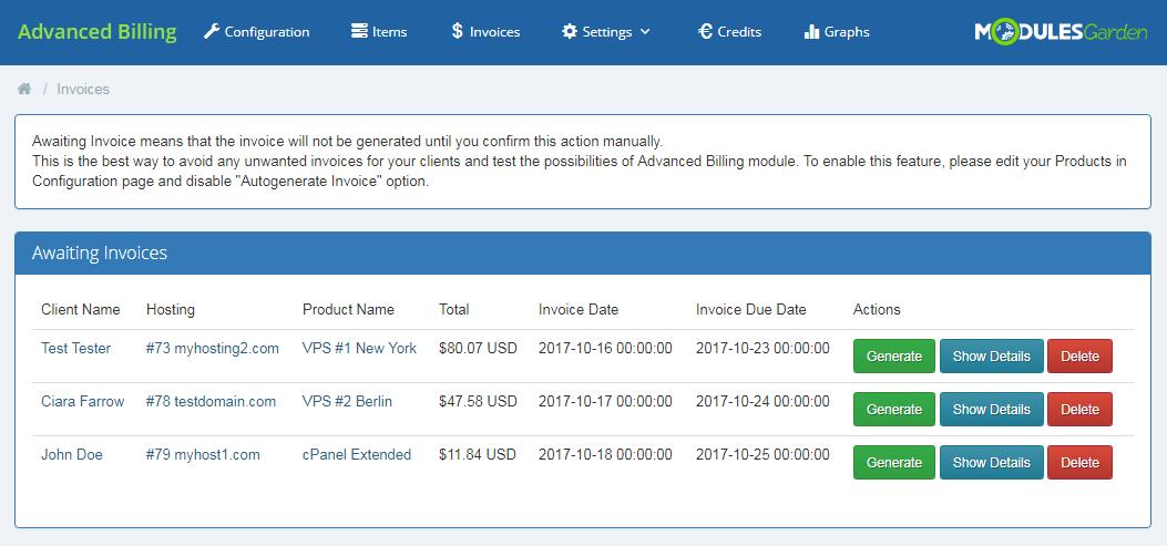 Advanced Billing For WHMCS: Module Screenshot 18