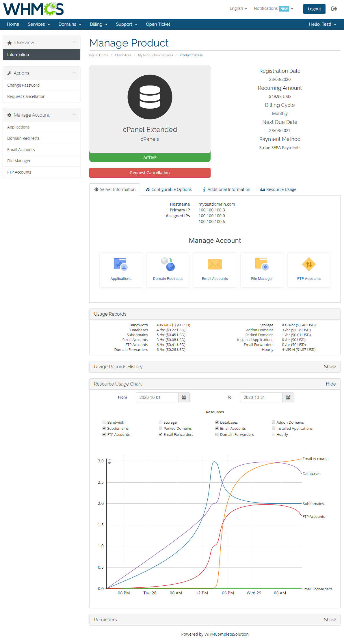 Advanced Billing For WHMCS: Module Screenshot 1