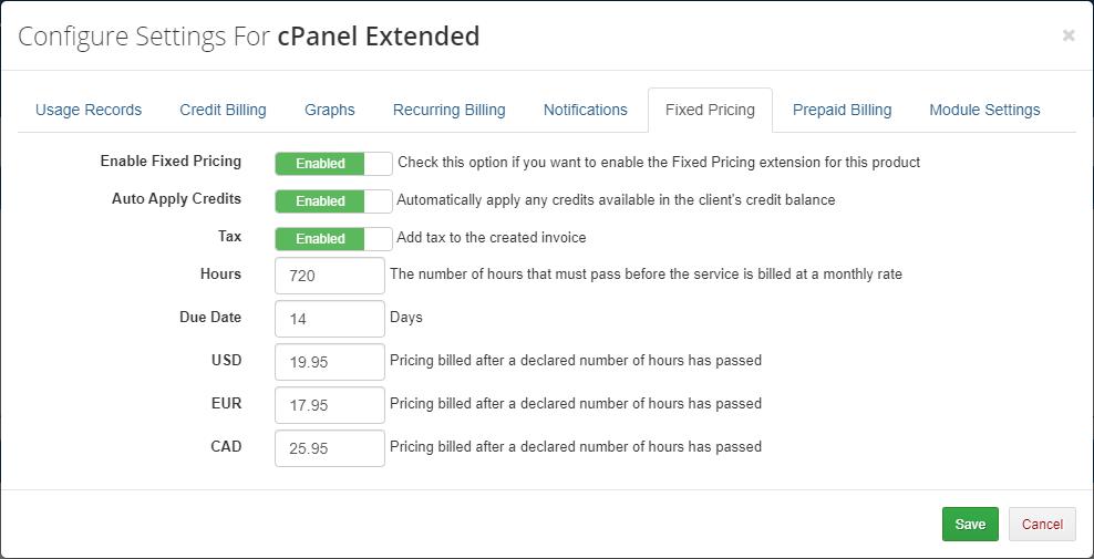 Advanced Billing For WHMCS: Module Screenshot 15