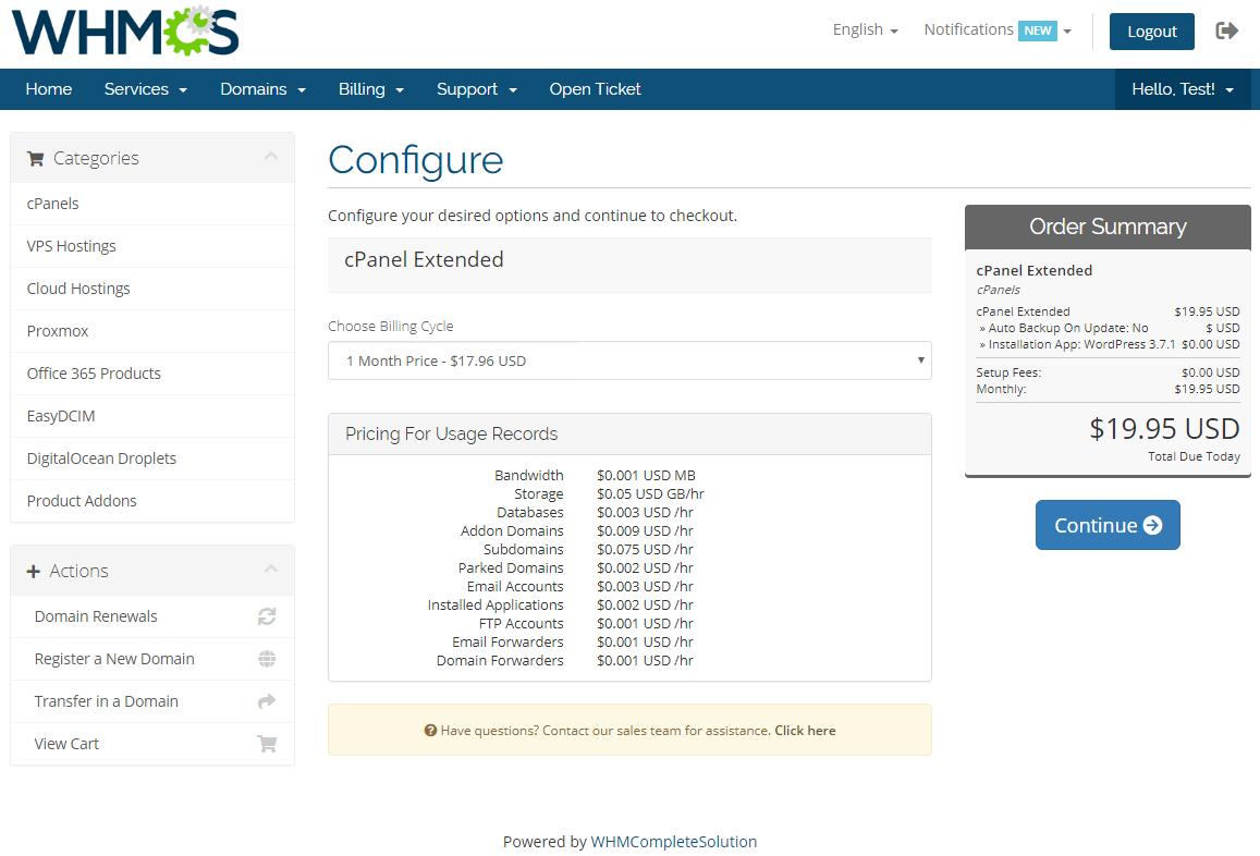 Advanced Billing For WHMCS: Module Screenshot 7