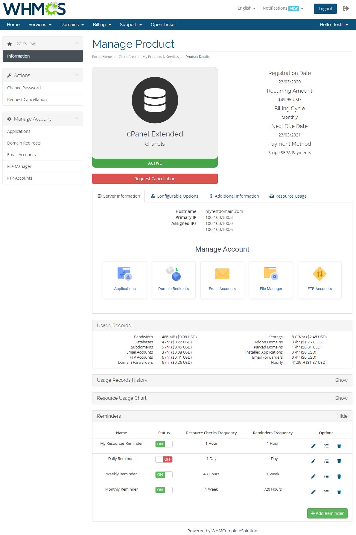 Advanced Billing For WHMCS: Module Screenshot 2