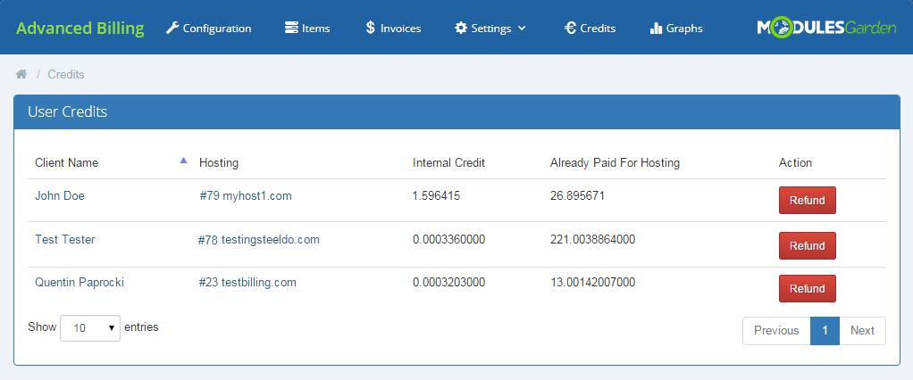 Advanced Billing For WHMCS: Module Screenshot 20
