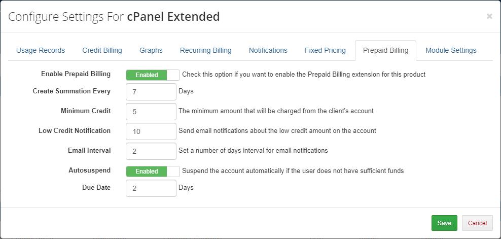Advanced Billing For WHMCS: Module Screenshot 16