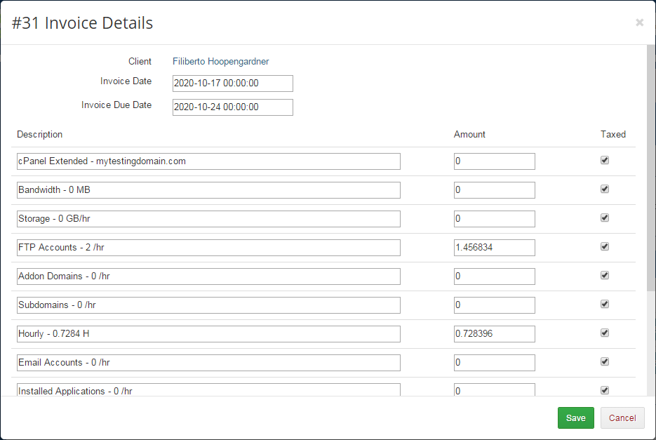 Advanced Billing For WHMCS: Module Screenshot 19