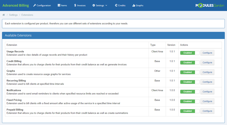 Advanced Billing For WHMCS: Module Screenshot 24