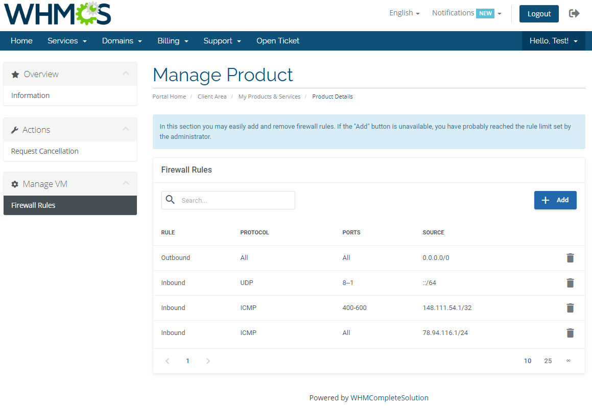 Amazon EC2 For WHMCS: Module Screenshot 2