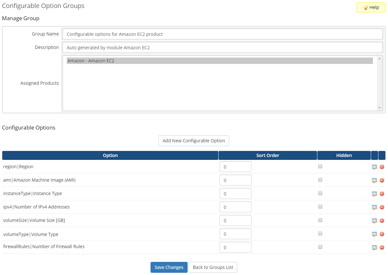 Amazon EC2 For WHMCS: Module Screenshot 8