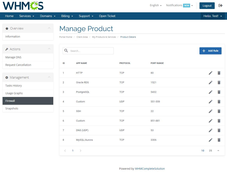 Amazon Lightsail For WHMCS: Module Screenshot 5