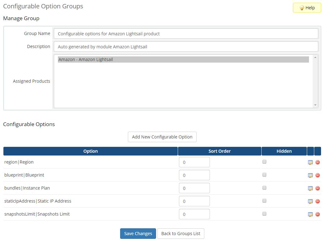 Amazon Lightsail For WHMCS: Module Screenshot 11